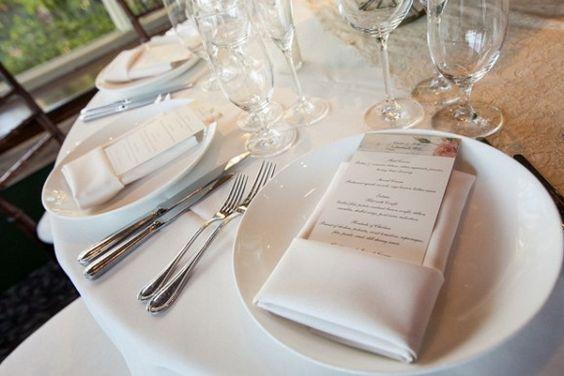 Wedding place setting - Melvin Gilbert Photography