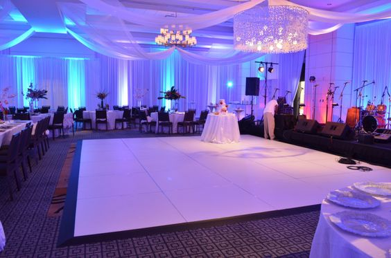 Dance Floor  Commodious dance floors and platforms are especially important if you plan on presenting all or part of your party outdoors. Indoors or out, a dance floor will encourage your guests to enjoy your spectacular party to the fullest.