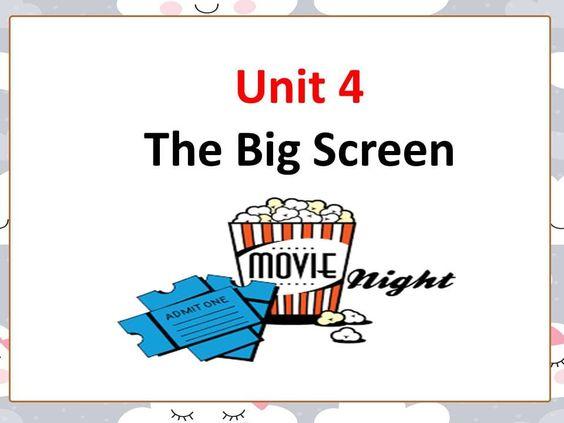 بوربوينت Lesson 2 Describing Films للصف السادس مادة اللغة الانجليزية Big Screen Admit One The Unit