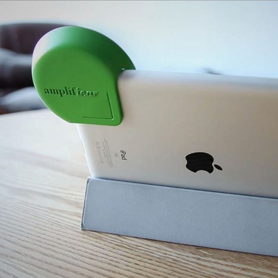 Need this... Amplifiear - A creative Kickstarter project designed to easily boost the audio on your iPad