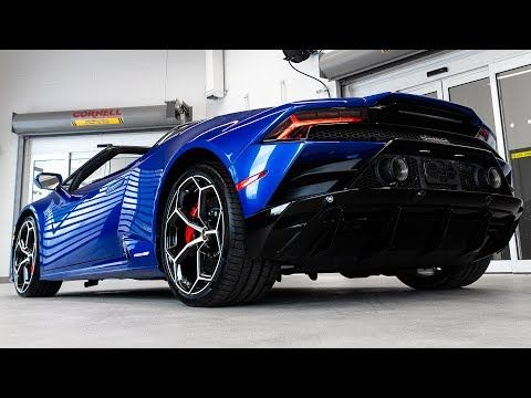 Video 2020 Lamborghini Huracan Evo Spyder In Blu Sideris Lamborghini Huracan Evo Spyder Supercar Tuning Video Lamborghini Huracan Lamborghini Evo