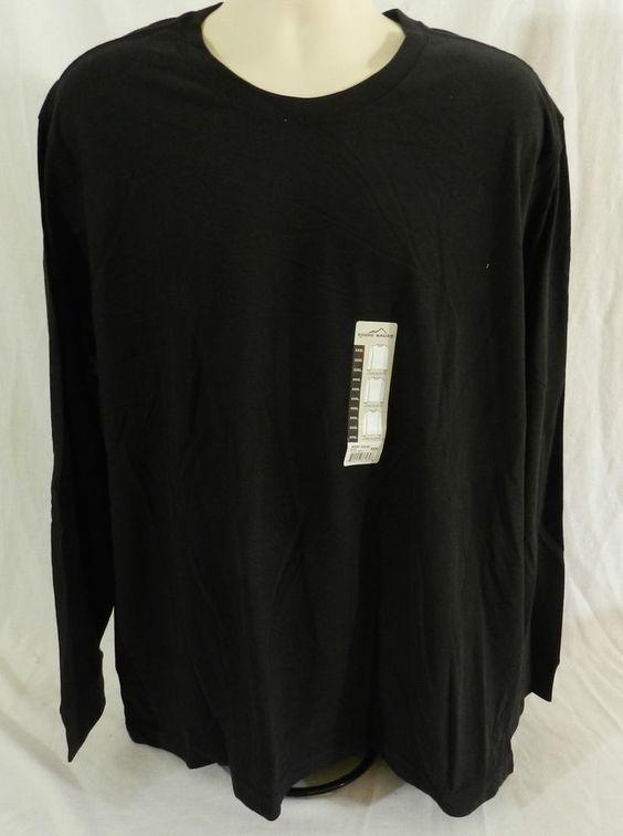 NWT Eddie Bauer Long Sleeve T Shirt Crew Neck Black Size 3XL  #EddieBauer #BasicTee
