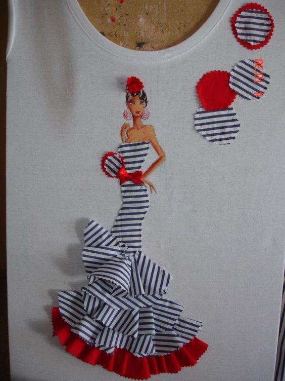 Flamenca manualidades pinterest camisas camisetas y - Apliques de pared originales ...