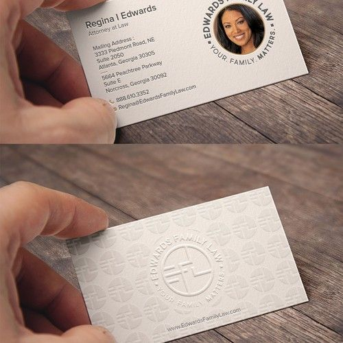 Business Card Design Divorce And Custody Law Firm Business Card