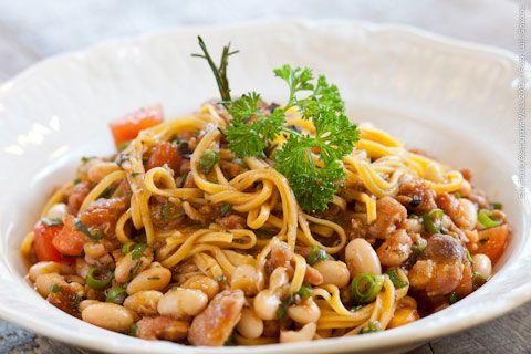 Trattoria do Picchì (jantar)    Cappelini com Ragù de linguiça e feijão branco