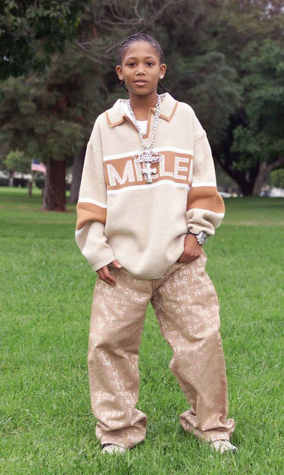 This is Lil Romeo at the height of his rap career in 2001.