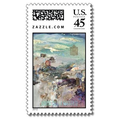 Past Many Horizons Postage Stamp by canvas2