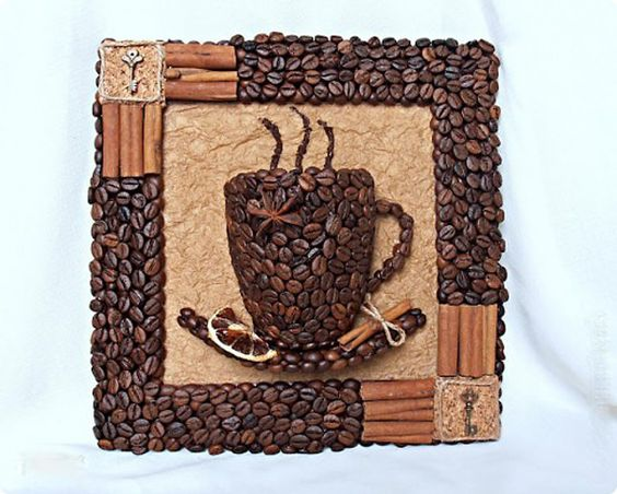 Copa DIY 3D Café Decoración Cuadro con granos de café | iCreativeIdeas.com Follow Us on Facebook --> https://www.facebook.com/iCreativeIdeas