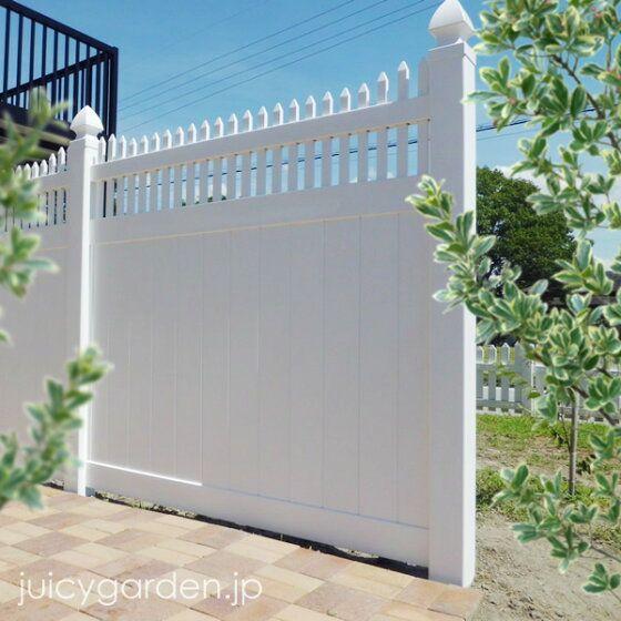 楽天市場 ホワイトフェンス プライバシー2型 ポストと表札のジューシーガーデン エクステリア フェンス ガーデンハウス