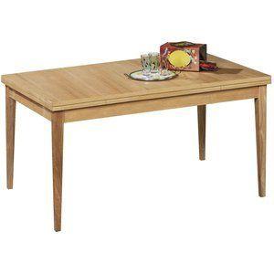 Table Rectangulaire Sven , vernis naturel, 4 à 8 couverts.