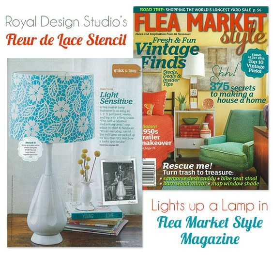 Light up a lampshade with a diy stencil project from flea for Diy flea market projects