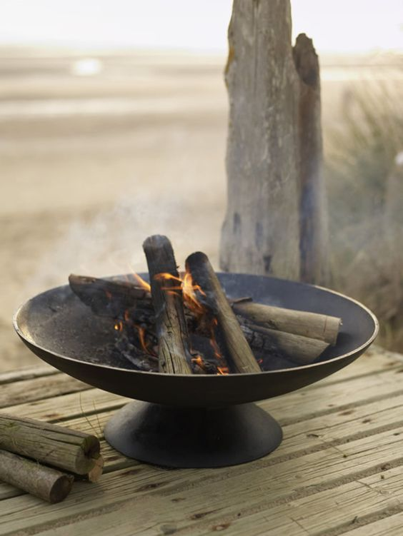Iron Brazier - For the outdoors  I WILL come across some sort of awesome metal/steel/iron bowl to create a firepit for my deck.