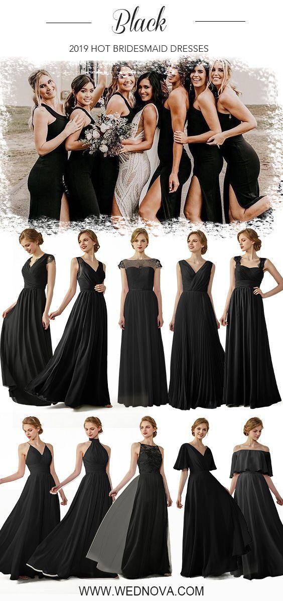 Black Chiffon Bridesmaid Dress Cap Sleeve Dress With Lace Halter Long D Black Bridesmaid Dresses Long Black Bridesmaid Dresses Black Chiffon Bridesmaid Dresses