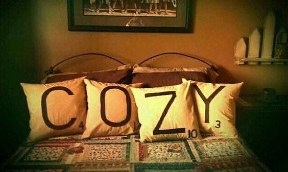 Scrabble Tile Pillow by onepinktulip on Etsy, $60.00