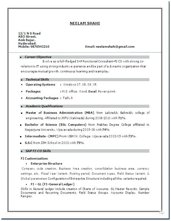 3 Year Experience Resume Format Resume Templates Resume Format Sample Resume Format Resume Format In Word