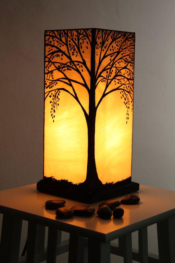 Lampes En Verre Vitrail And Lampes On Pinterest
