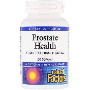 Natural Factors كبسولات العناية بصحة البروستاتا تركيبة عشبية كاملة 60 كبسولة هلامية ملساء Iherb Prostate Health Herbalism Prostate