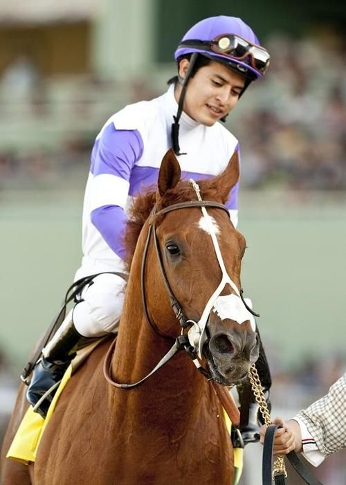 "I'll Have Another ridden by jockey ""Marvelous Mario"" Wins Kentucky Derby May 5th, 2012!     http://www.kentuckyderby.com/contenders/ill-have-another.:"