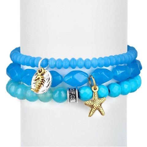 Ocean Blue Starfish Set of Three