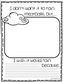 worksheet to go with Cloudy with a Chance of Meatballs - Meatballs ...