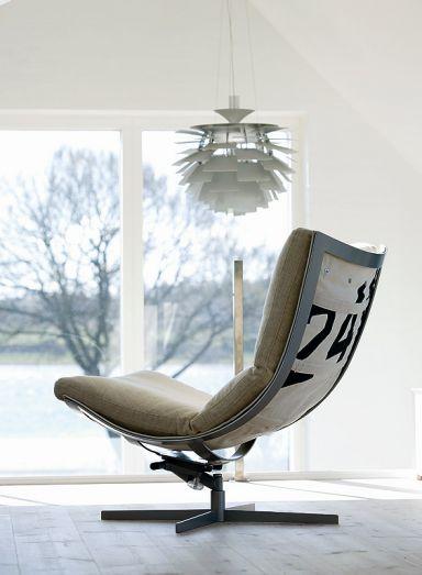"""Segel als Material: Sessel """"Spinnaker"""" bei Hødnebø"""