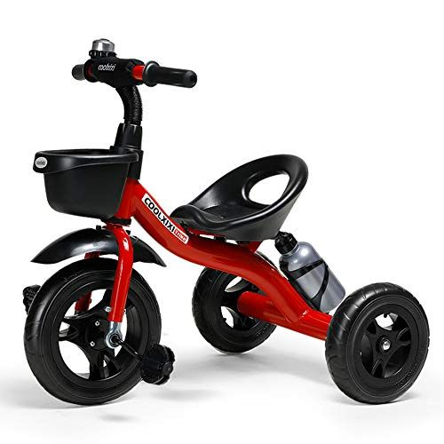 Cool Series Kids Trike Toddlers Children Tricycle Stroller Trike 3 Wheel Pedal Bike Multicolor For 2 3 4 5 6 Years Old Boys Girls Indoor Outdoor With Storage