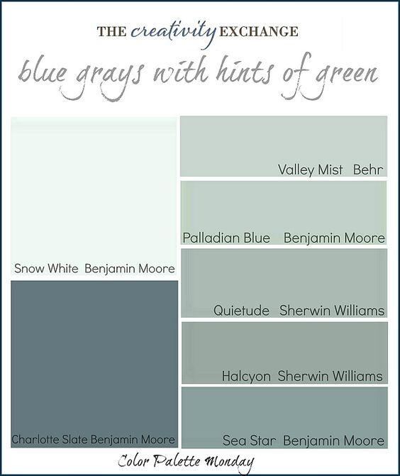 Readers' Favorite Paint Colors {Color Palette Monday