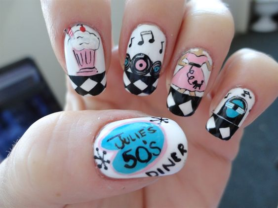 50's Diner - Nail Art Gallery by NAILS Magazine
