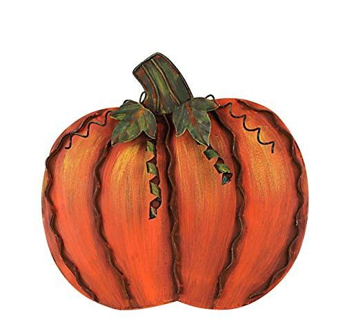 Pumpkin Kisses and Harvest Wishes 3.5 x 5.25 Inches Fantastic Fall Miniature Autumn Wooden Decor Sign