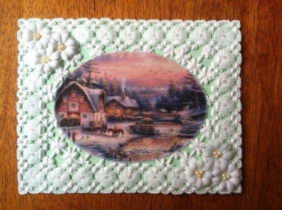 mis tarjetas en papel vegetal
