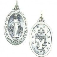 This is a beautiful new Sterling Silver Miraculous Medal. It is a great gift for yourself or a loved one and makes the perfect addition to any jewelry collection. Style-Medal. Metal-Sterling Silver. F...