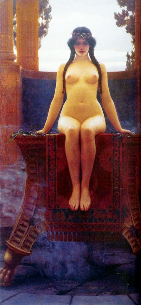 The Delphic Oracle (1899) by the British painter John William Godward (1861 –1922).
