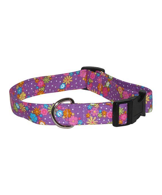Another great find on #zulily! Purple Peace Garden Pet Collar by Elmo's Closet #zulilyfinds