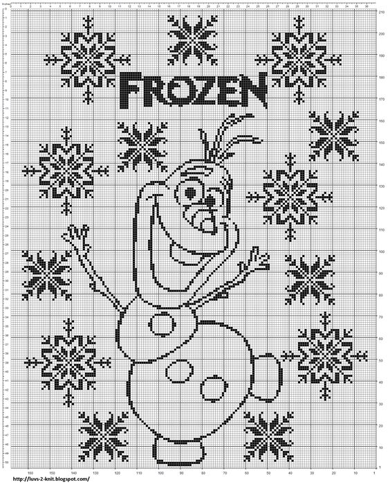 Knitting Patterns For Frozen : Luvs 2 Knit: New Olaf Chart Craft...Stitches Pinterest ...