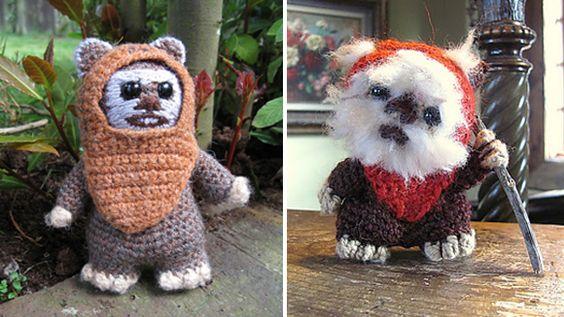 Ewoks!  #starwars  #knitting  #crotchet  www.junkfoodclothing.com