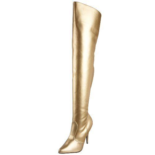 Thigh High Gold Boots - Boot Hto