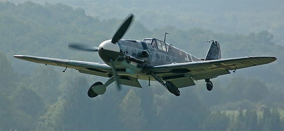 Me109 G-6 D-FMBB. TheMesserschmitt Bf 109, interchangeably called theMe 109(most often byAlliedpilots and aircrew), was aGermanWorld War IIfighter aircraftdesigned byWilly MesserschmittandRobert Lusserduring the early to mid-1930s.[2]It was one of the first truly modern fighters of the era, including such features as all-metalmonocoqueconstruction, a closedcanopy, a retractablelanding gear, and was powered by a liquid-cooled, inverted-V12aero engine.
