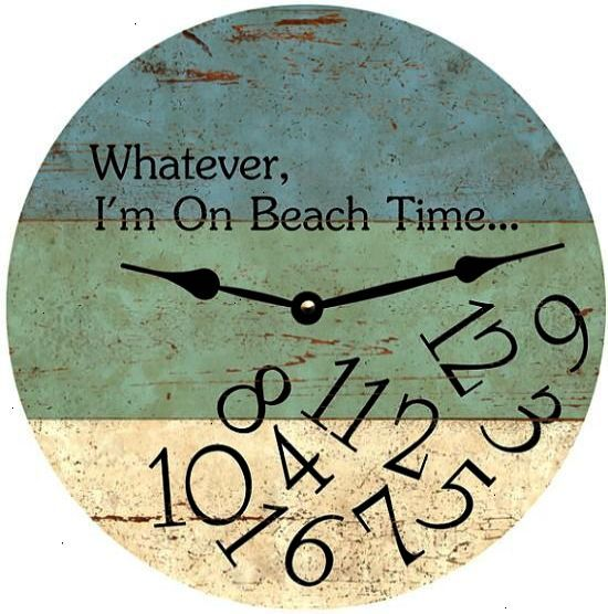 Beach Wall Clock With Quote Brilliant Beach House Decor Beach Cottage Style Beach Cottages