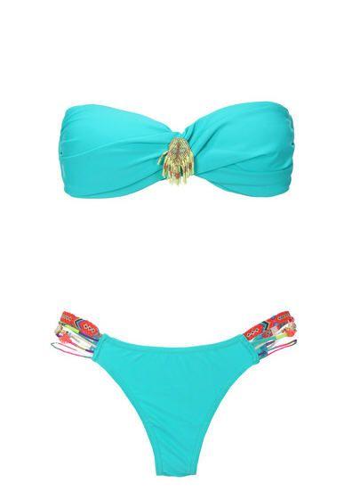 Maillot de bain Monshowroom promo maillot, le Maillot 2 pièces Swim Turquoise Hipanema for Amenapih prix promo Monshowroom 100,00 €