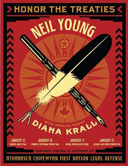 Neil Young and Diana Krall Benefit Concert in Canadian cities... January 2014