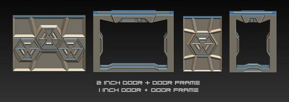 2 inch door & door frame, 1 inch door and door frame