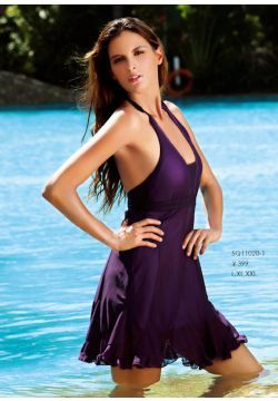 Frilly Long Swim Dress in Purple or Blue Clearance - $64.00 ...