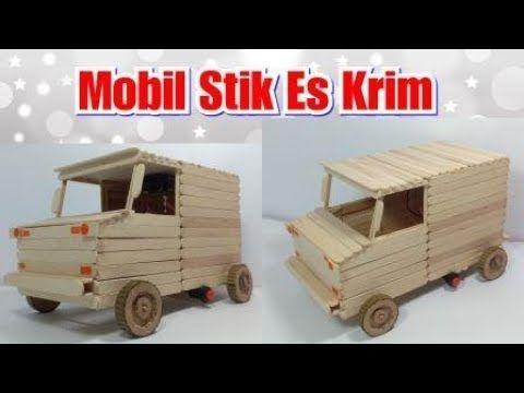 Kerajinan Dari Stik Es Krim Cara Membuat Mainan Mobil Untuk Anak Youtube Mainan Anak Mobil Mobil Mainan