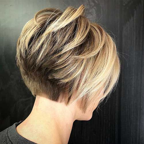 Back View Of Short Layered Haircuts The Undercut Bob Hairstyles For Thick Short Layered Haircuts Thick Hair Styles