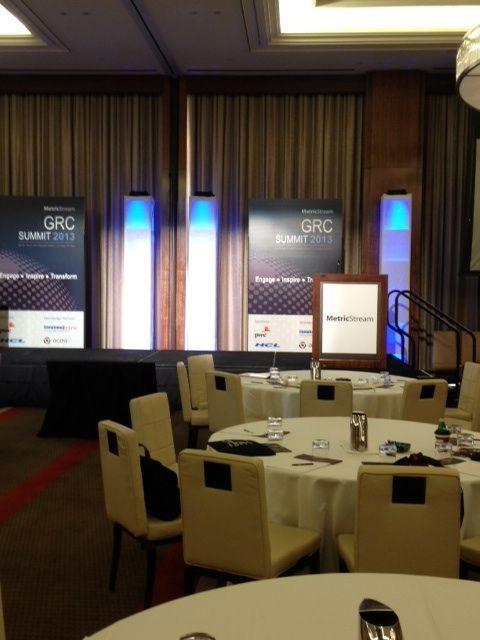 MetricStream GRC Summit 2013 at the Mandarin Oriental Hotel in Las Vegas - Keynote stage awaiting speakers