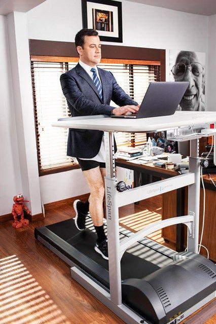 Jimmy Kimmel using his LifeSpan Treadmill Desk. http://www.lifespanfitness.com/tr1200-dt5-treadmill-desk.html