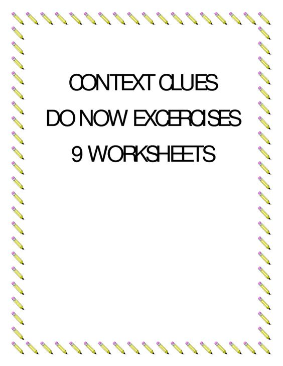 Context clues exercises multiple choice