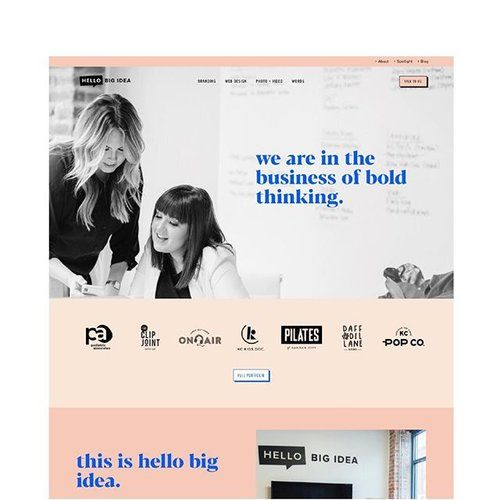 Our Top Brands And Projects Hello Big Idea Web Design Website Design Inspiration Website Inspiration