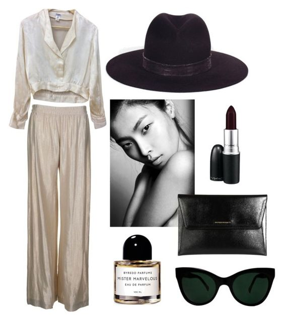 """The Friday Fedora"" by ashaya-leigh on Polyvore featuring Armani Jeans, Chanel, Byredo, KamaliKulture, Burberry, MAC Cosmetics, women's clothing, women, female and woman"