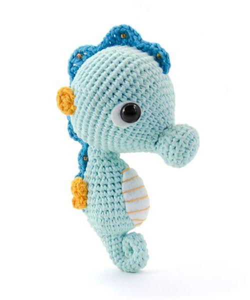 Free Amigurumi Seahorse : Seepferdchen, Amigurumi and Morgen on Pinterest